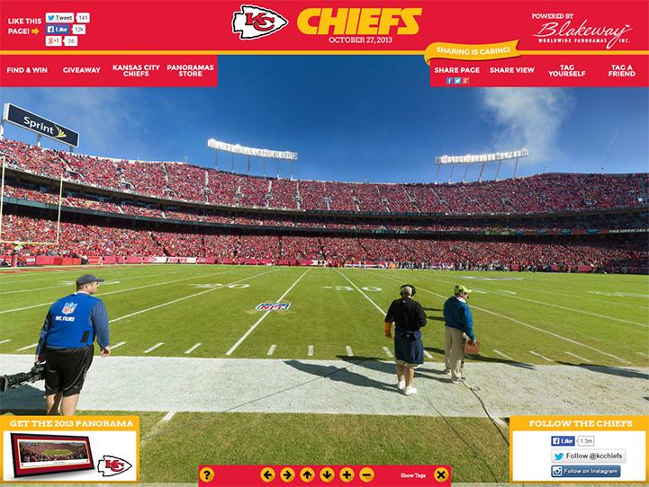 Kansas City Chiefs 360 Gigapixel Fan Photo