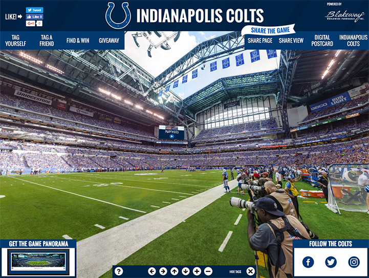 Indianapolis Colts 360 Gigapixel Fan Photo