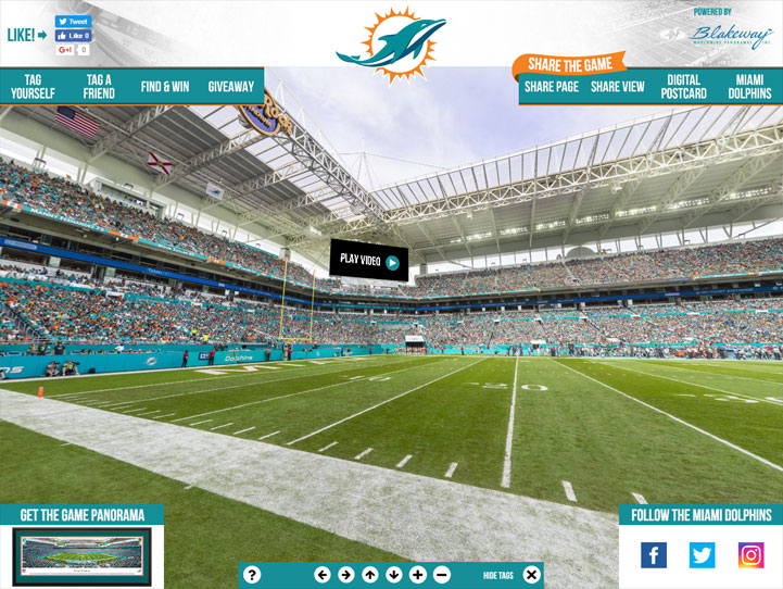 Miami Dolphins 360 Gigapixel Fan Photo