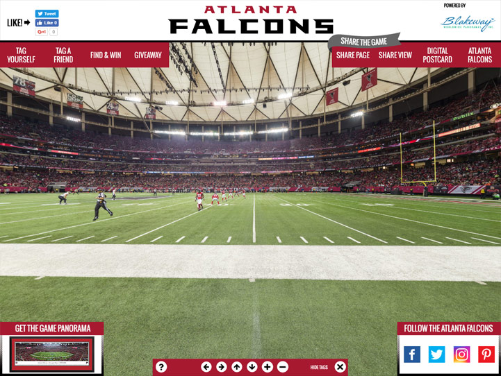 Atlanta Falcons 360 Gigapixel Fan Photo