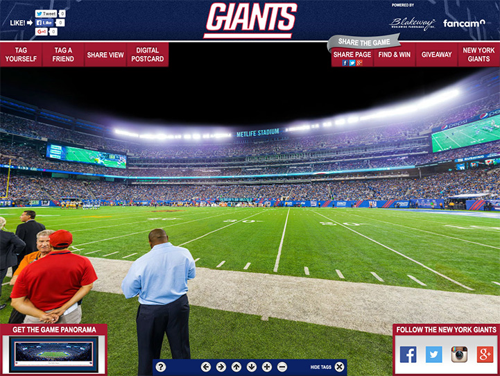 New York Giants 360 Gigapixel Fan Photo
