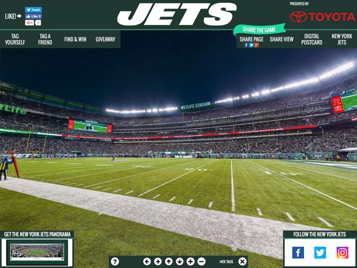 New York Jets 360 Gigapixel Fan Photo