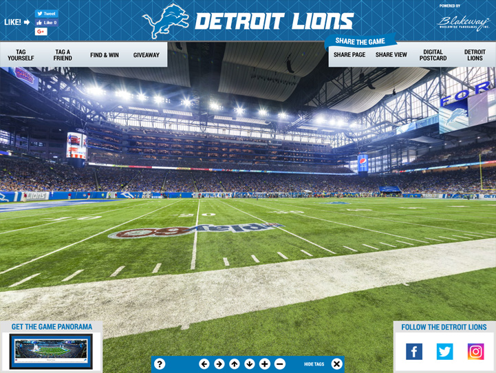 Detroit Lions 360 Gigapixel Fan Photo