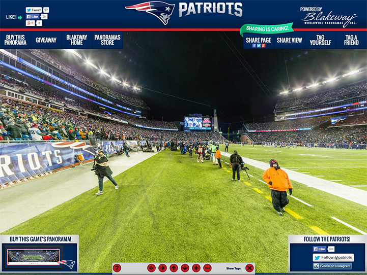 New England Patriots 360 Gigapixel Fan Photo