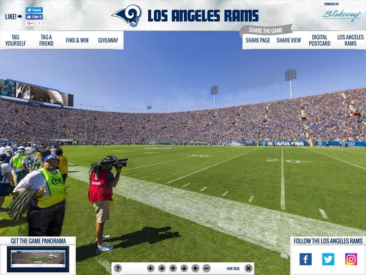 Los Angeles Rams 360 Gigapixel Fan Photo