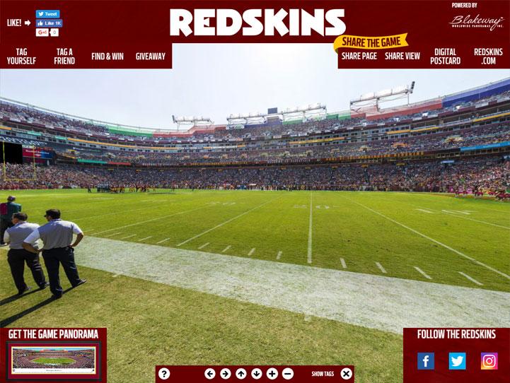 Washington Redskins 360 Gigapixel Fan Photo