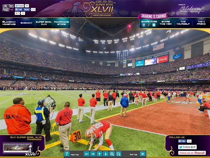 Super Bowl XLVII 360 Gigapixel Fan Photo