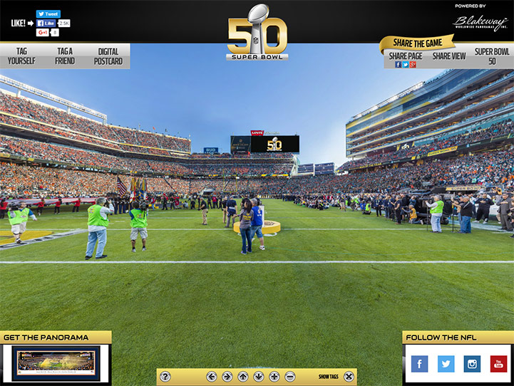 Super Bowl 50 360 Gigapixel Fan Photo
