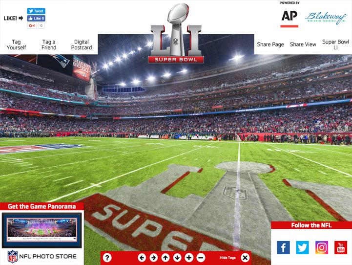 Super Bowl LI 360 Gigapixel Fan Photo