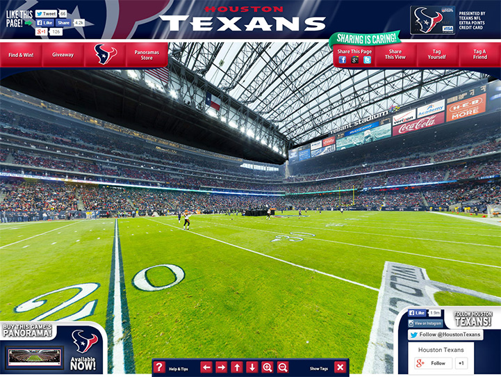 Houston Texans 360 Gigapixel Fan Photo