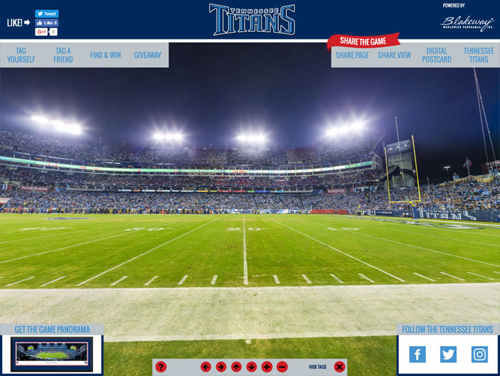 Tennessee Titans 360 Gigapixel Fan Photo