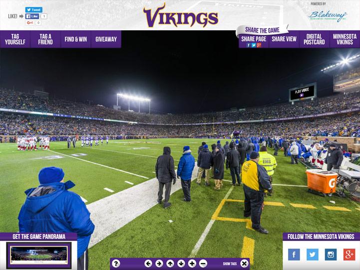 Minnesota Vikings 360 Gigapixel Fan Photo