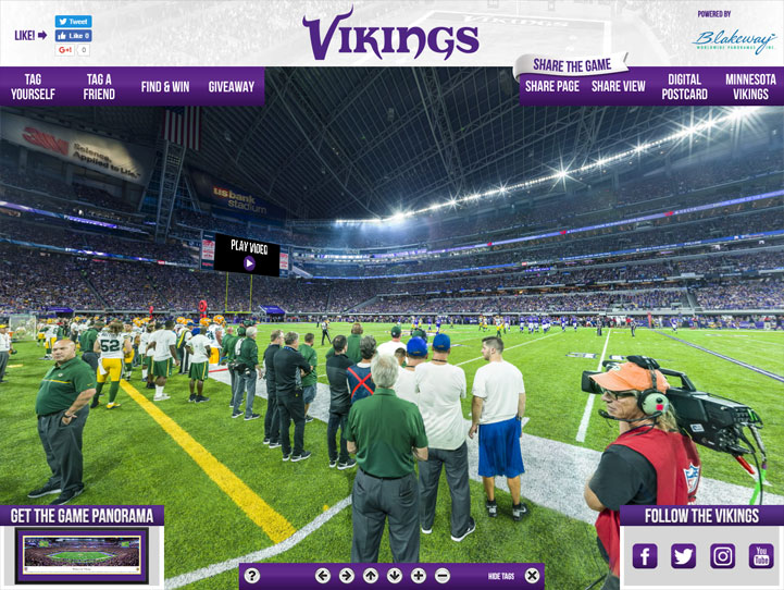 Minnesota Vikings 360 Gigapixel Fan Photo