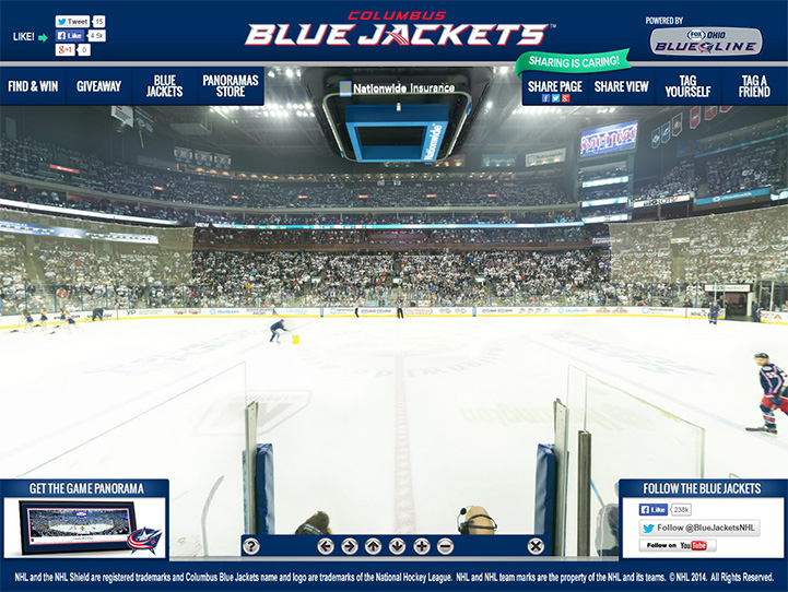 Columbus Blue Jackets 360 Gigapixel Fan Photo