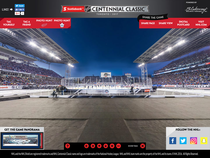 2017 NHL Centennial Classic 360 Gigapixel Fan Photo