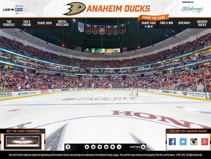 Anaheim Ducks 360 Gigapixel Fan Photo