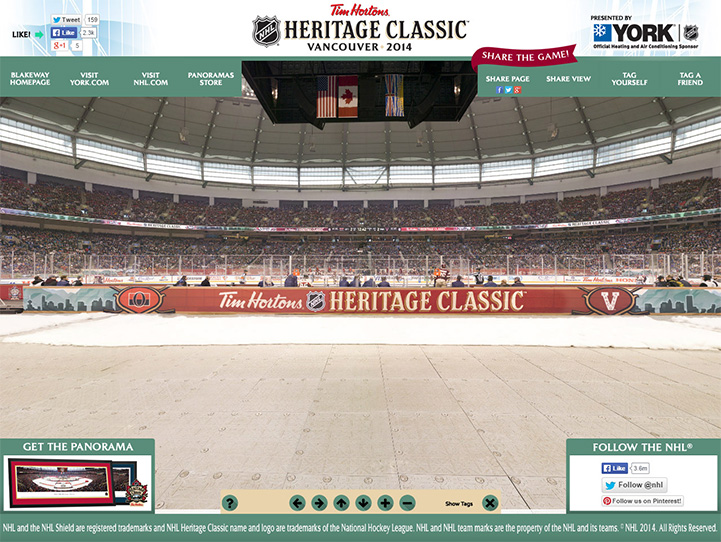 2014 NHL Heritage Classic 360 Gigapixel Fan Photo