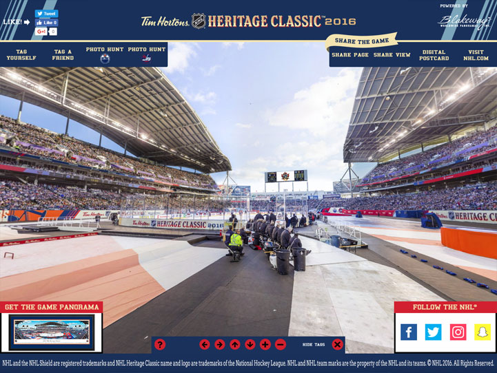 2016 NHL Heritage Classic 360 Gigapixel Fan Photo