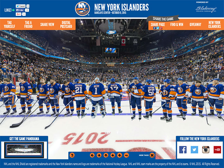 New York Islanders 360 Gigapixel Fan Photo
