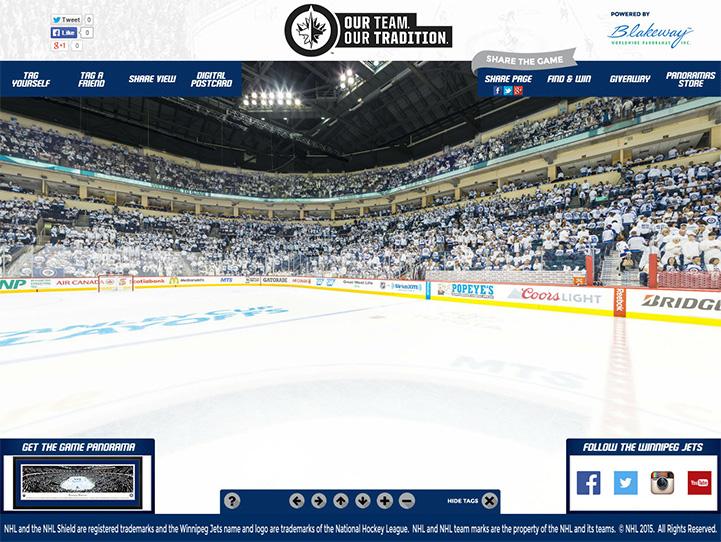 Winnipeg Jets 360 Gigapixel Fan Photo