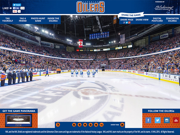 Edmonton Oilers 360 Gigapixel Fan Photo