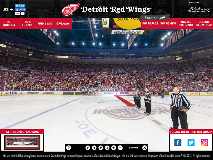 Detroit Red Wings 360 Gigapixel Fan Photo