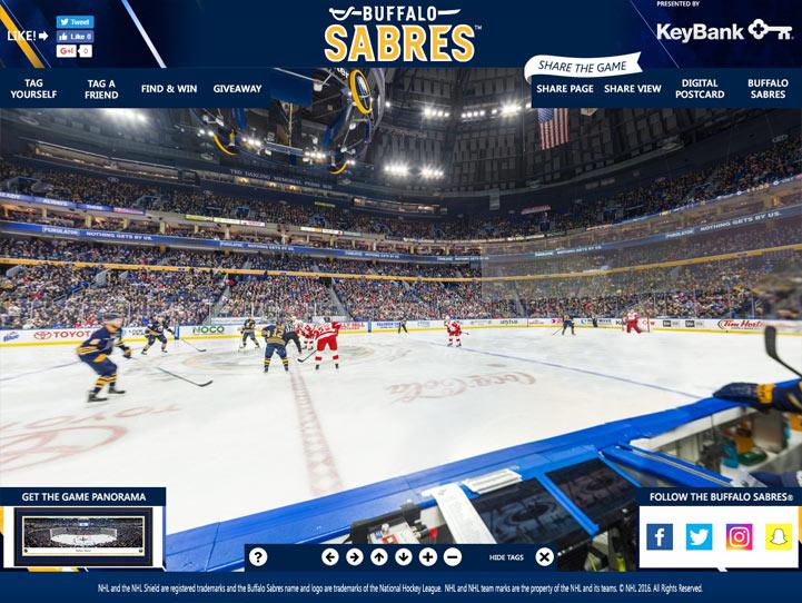 Buffalo Sabres 360 Gigapixel Fan Photo