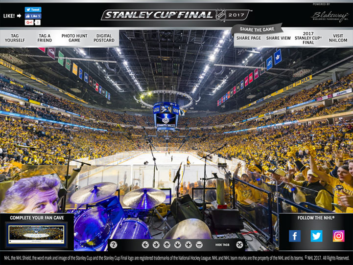 2017 NHL Stanley Cup Final 360 Gigapixel Fan Photo
