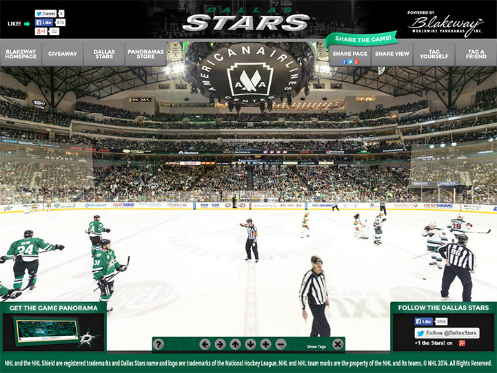 Dallas Stars 360 Gigapixel Fan Photo
