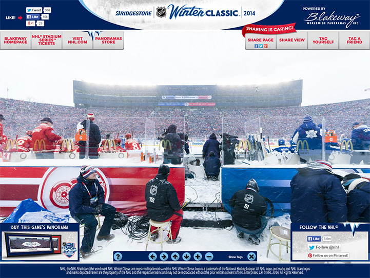 2014 NHL Winter Classic 360 Gigapixel Fan Photo
