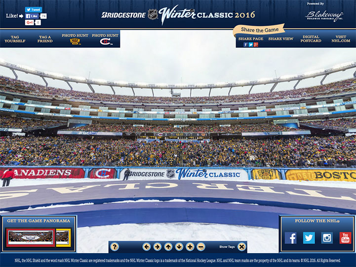2016 NHL Winter Classic 360 Gigapixel Fan Photo
