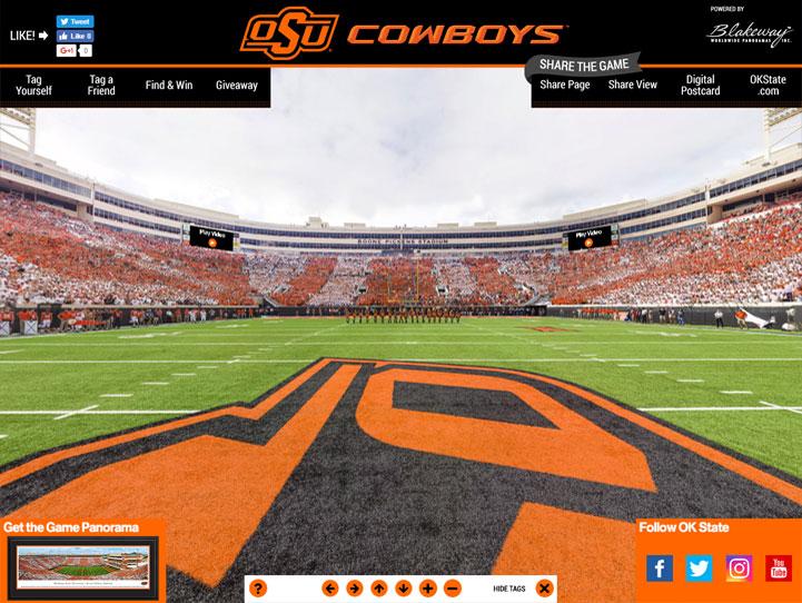 Oklahoma State Cowboys 360 Gigapixel Fan Photo
