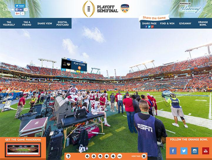 2015 Orange Bowl 360 Gigapixel Fan Photo