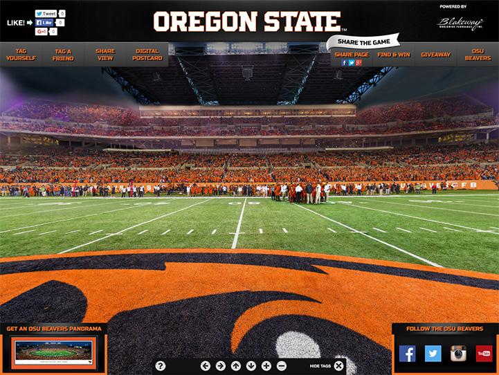 Oregon State Beavers 360 Gigapixel Fan Photo