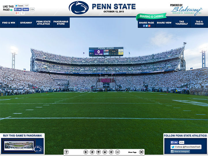 Penn State Nittany Lions 360 Gigapixel Fan Photo