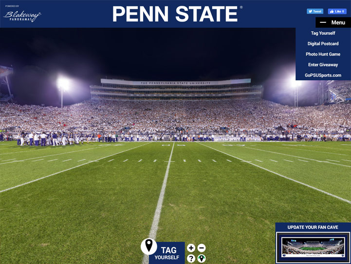 Penn State Nittany Lions 360 Gigapixel Fan Photo