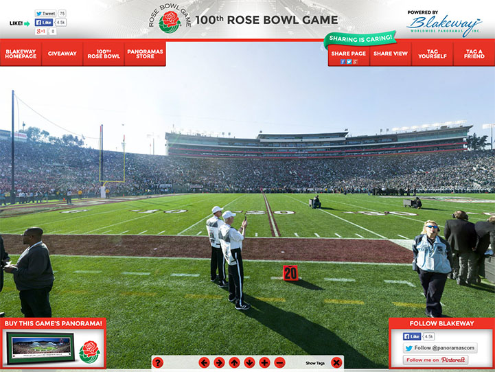 100th Rose Bowl Game 360 Gigapixel Fan Photo