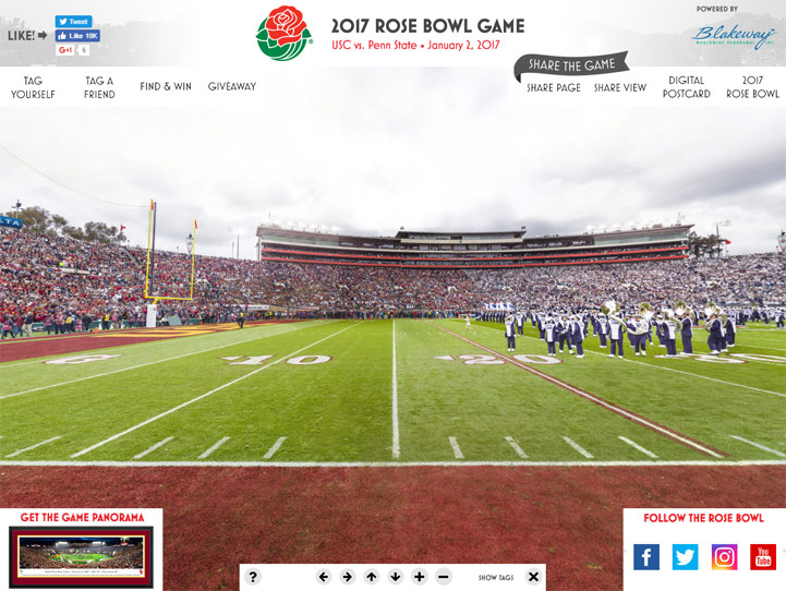 2017 Rose Bowl 360 Gigapixel Fan Photo