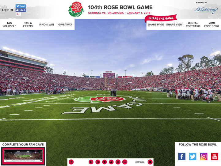 2018 Rose Bowl 360 Gigapixel Fan Photo