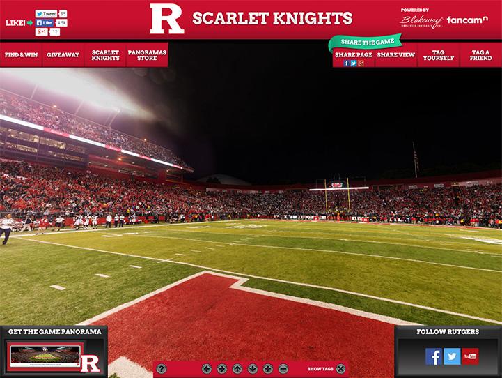 Rutgers Scarlet Knights 360 Gigapixel Fan Photo