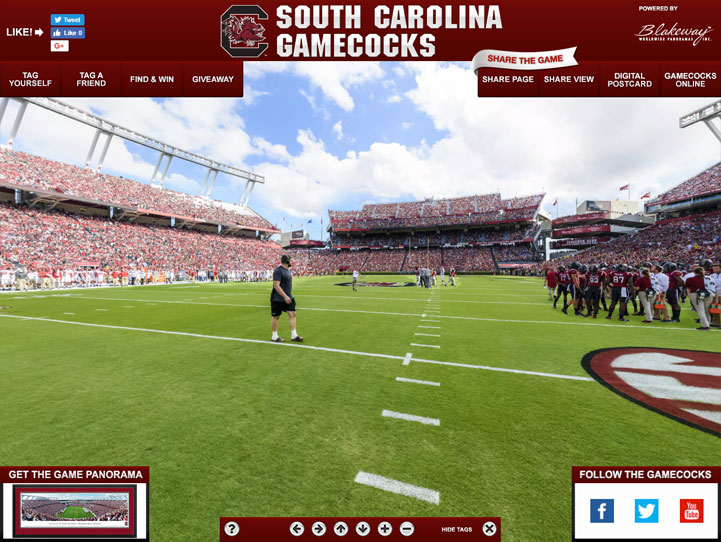 South Carolina Gamecocks 360 Gigapixel Fan Photo