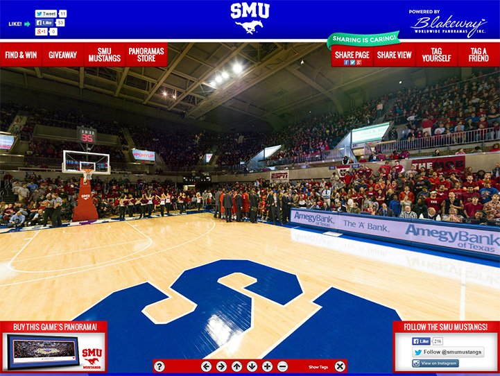 SMU Mustangs 360 Gigapixel Fan Photo
