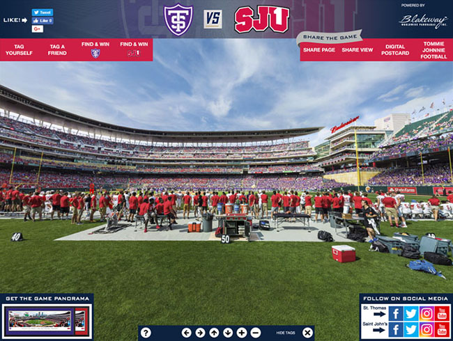 St. Thomas vs. Saint John's 360 Gigapixel Fan Photo