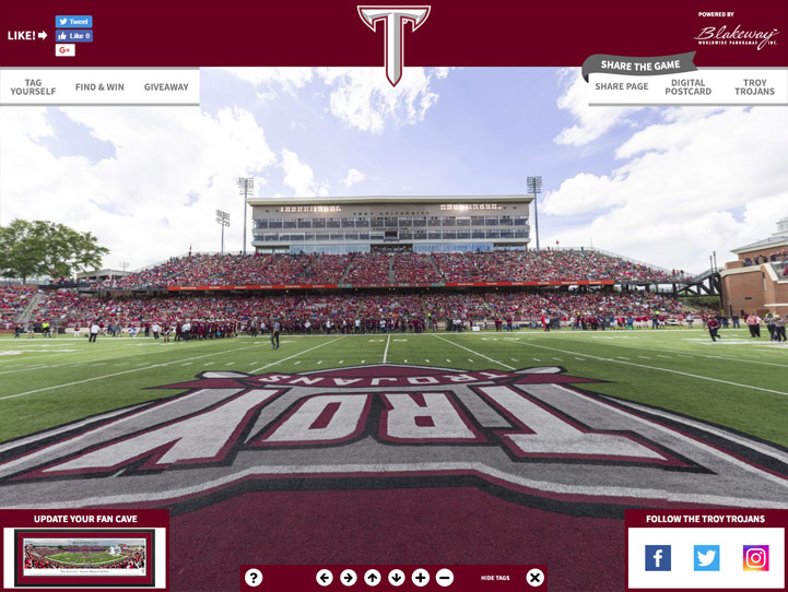 Troy Trojans 360 Gigapixel Fan Photo