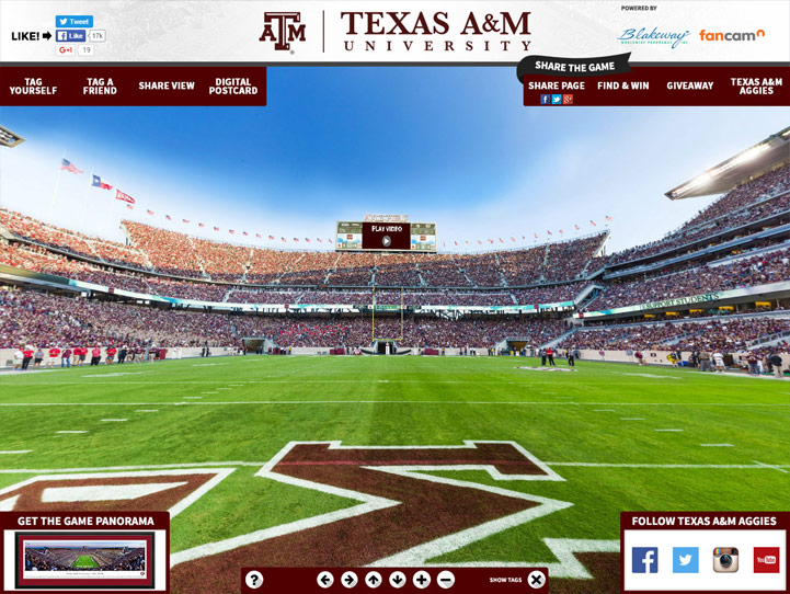 Texas A&M Aggies 360 Gigapixel Fan Photo