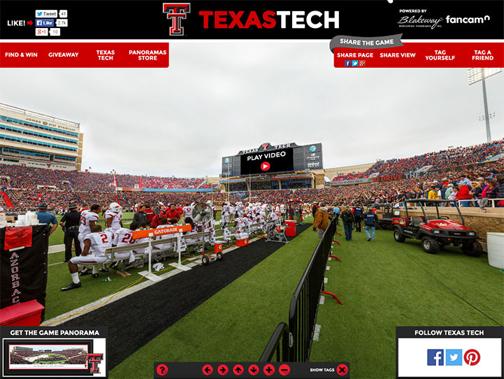 Texas Tech Red Raiders 360 Gigapixel Fan Photo