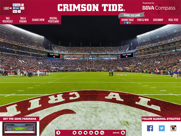 Alabama Crimson Tide 360 Gigapixel Fan Photo