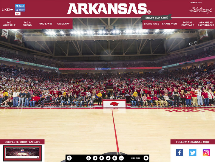 Arkansas Razorbacks 360 Gigapixel Fan Photo
