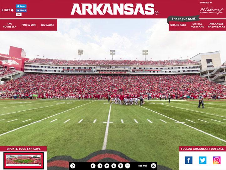 Arkansas Razorbacks 360 Gigapixel Fan Photo