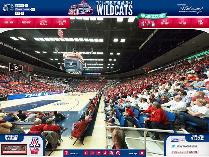 Arizona Wildcats 360 Gigapixel Fan Photo